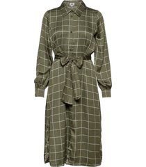 lisa long shirt dress knälång klänning grön twist & tango