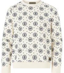 sweatshirt med tryckt mönster