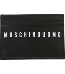 moschino card holder with logo