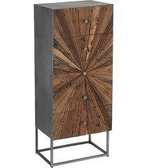 komoda z szufladami drewno metal mumbai 110 cm