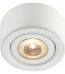 led puck light with mounting ring white finish