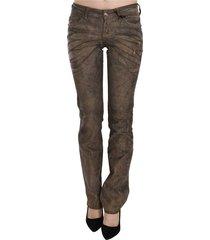 corduroy low waist slim fit denim pants jeans