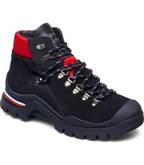 fun outdoor bootie shoes boots ankle boots ankle boots flat heel svart tommy hilfiger