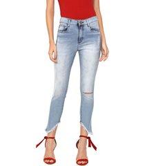 calça jeans my favorite thing(s) skinny estonada azul
