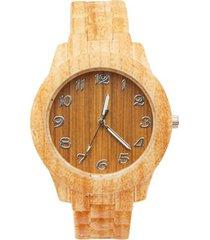 reloj tipo madera color surtido, talla uni