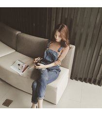 maternity hole trousers pregnant denim overalls belly pants adjustable jumpsuits