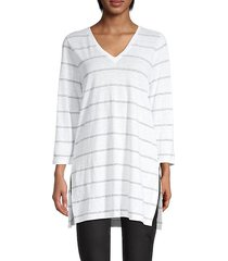 striped organic linen tunic