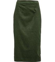 ihbea sk knälång kjol grön ichi