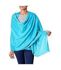 wool shawl, 'sea glamour' (india)