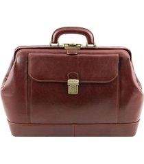 tuscany leather tl141299 leonardo - esclusiva borsa medico in pelle marrone