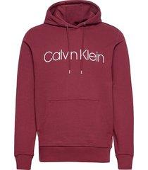 cotton logo hoodie hoodie trui rood calvin klein