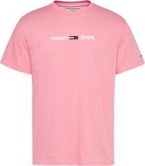 tommy hilfiger t-shirt dm0dm08472 logo tib rosey pink -
