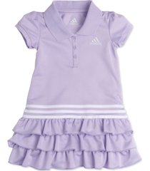 adidas baby girls tiered ruffle polo dress
