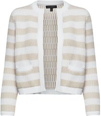 jacquard sweater jacket stickad tröja cardigan beige banana republic