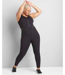 lane bryant women's livi soft sleeveless fitted jumpsuit 26/28 black
