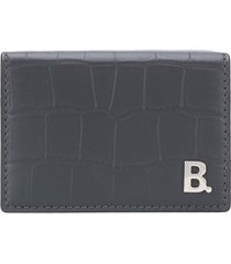 balenciaga b mini wallet - grey