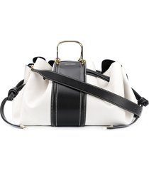 alexander mcqueen the drawstring tote bag - white