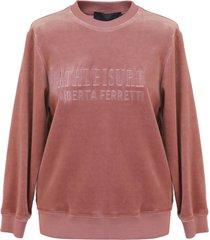 alberta ferretti cotton sweatshirt