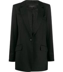 rag & bone peaked lapel blazer - black