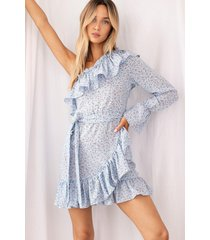 womens our options are open floral dress - blue