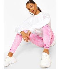 pastel tie dye leggings, pink
