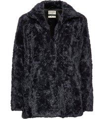 minimal. outerwear faux fur blauw tiger of sweden jeans