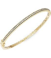 chocolatier® 14k honey gold™ & chocolate diamond® bangle