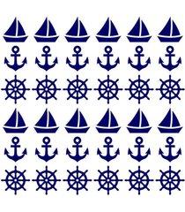 adesivo de parede decohouse navy azul