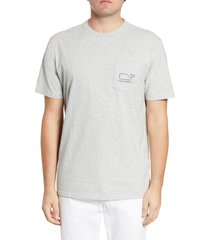 men's vineyard vines whale pocket t-shirt, size large - grey