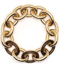 jil sander chunky chain bracelet - gold