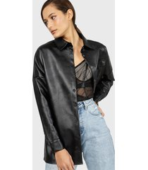 blusa missguided negro - calce oversize