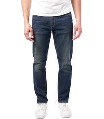 men's devil-dog dungarees athletic fit performance stretch jeans, size 38 - blue