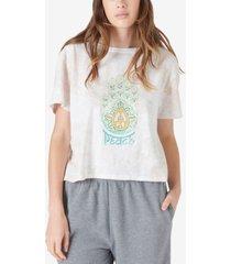 lucky brand cotton hamsa peace graphic-print t-shirt