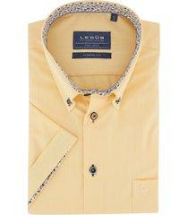 ledub overhemd geel strijkvrij modern fit