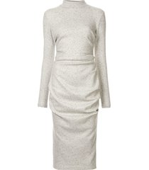 acler hogan slim-fit sweater dress - grey