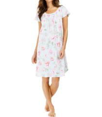 miss elaine cabbage-rose print nightgown