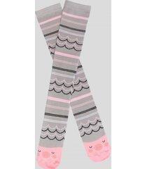 calcetin largo chancho rosado baziani