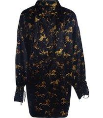 ganni silk stretch dress
