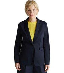 blazer elástico con brillo sutil azul marino esprit