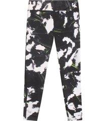 leggings skinny mujer color verde, xs