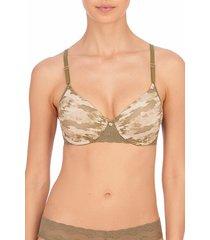 natori intimates bliss perfection contour underwire soft stretch padded t-shirt bra women's, size 34g