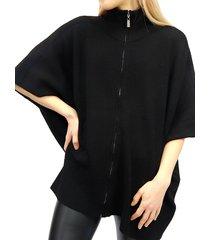 rd style women's poncho-style top - grey melange - size l