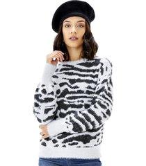 sweater crop animal mujer multicolor ii corona