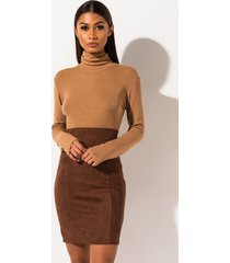 akira ammo x akira big booty high waisted suede midi pencil skirt