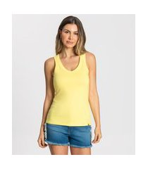 regata cotton básica feminina rovitex amarelo