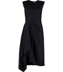 alexander mcqueen draped asymmetric dress