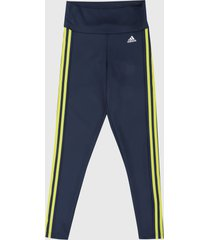 leggings azul-amarillo adidas performance 7/8 designed to move