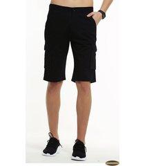 pantalones cortos gaupucean para hombre-negro