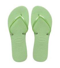 chinelo feminino havaianas flat verde
