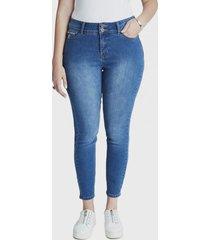 jeans pitillo 2 botones celeste curvi